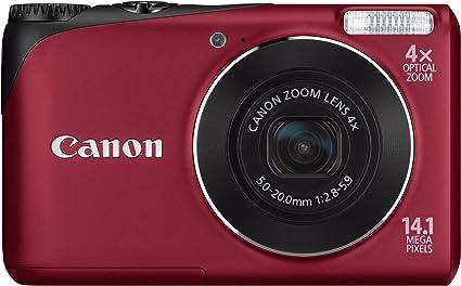 Canon Powershot A2200 Digitalkamera 2 7 Zoll Rot Kamera