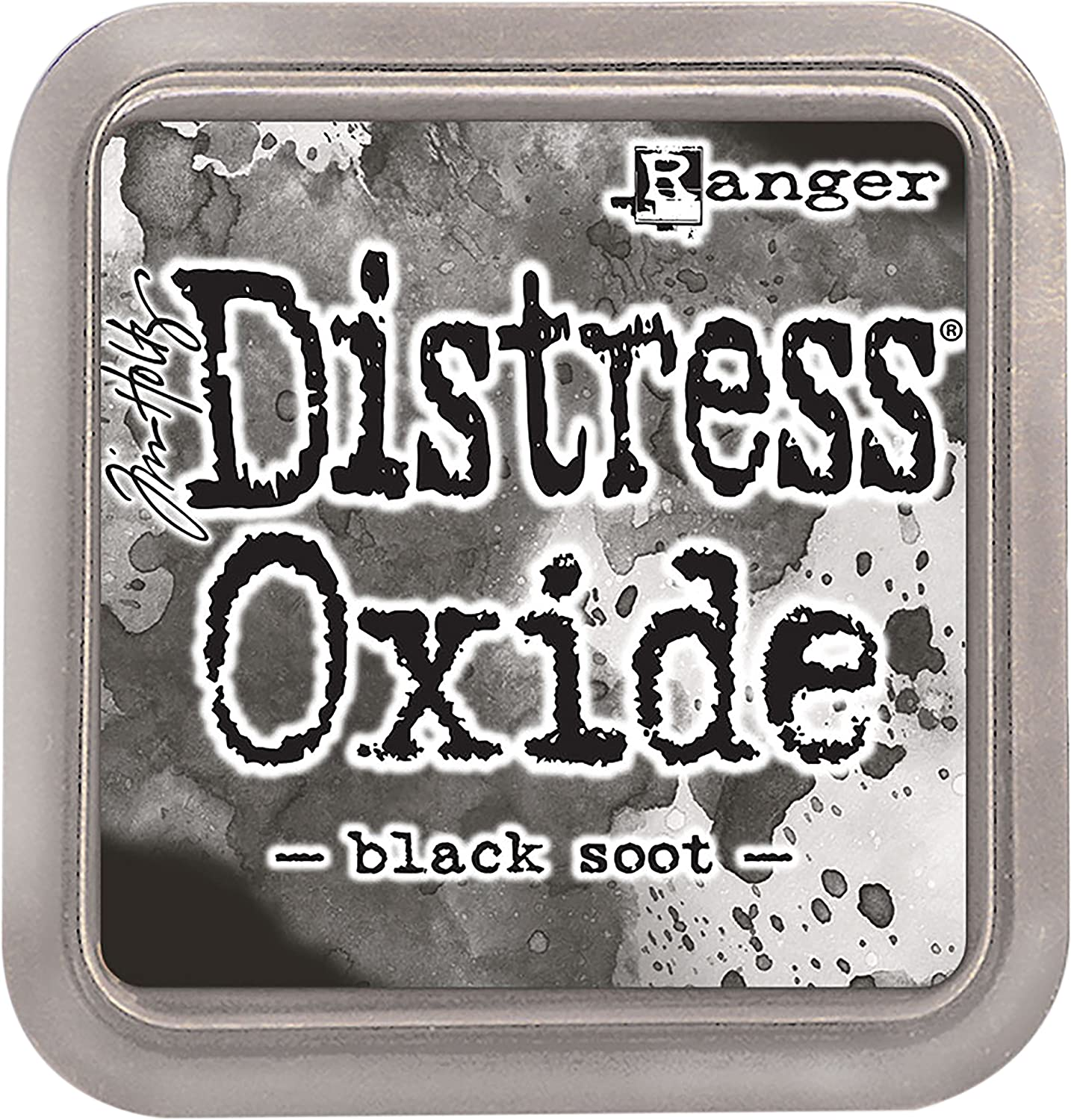 Ranger Black Soot Distress Oxide Ink Pad, Synthetic Material, 7.5 x 7.5 x 1.9 cm TDO55815
