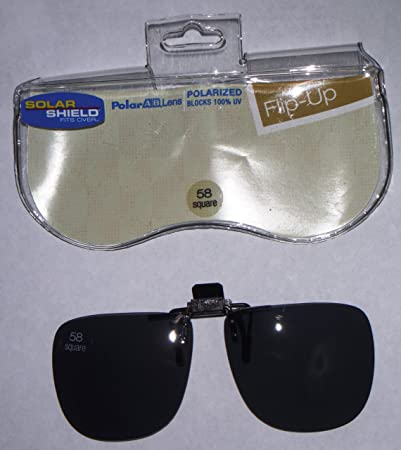 69d1f1a9c7 Image Unavailable. Image not available for. Color  58 Square Solar Shield  Polarized Fits Over Flip up Lens