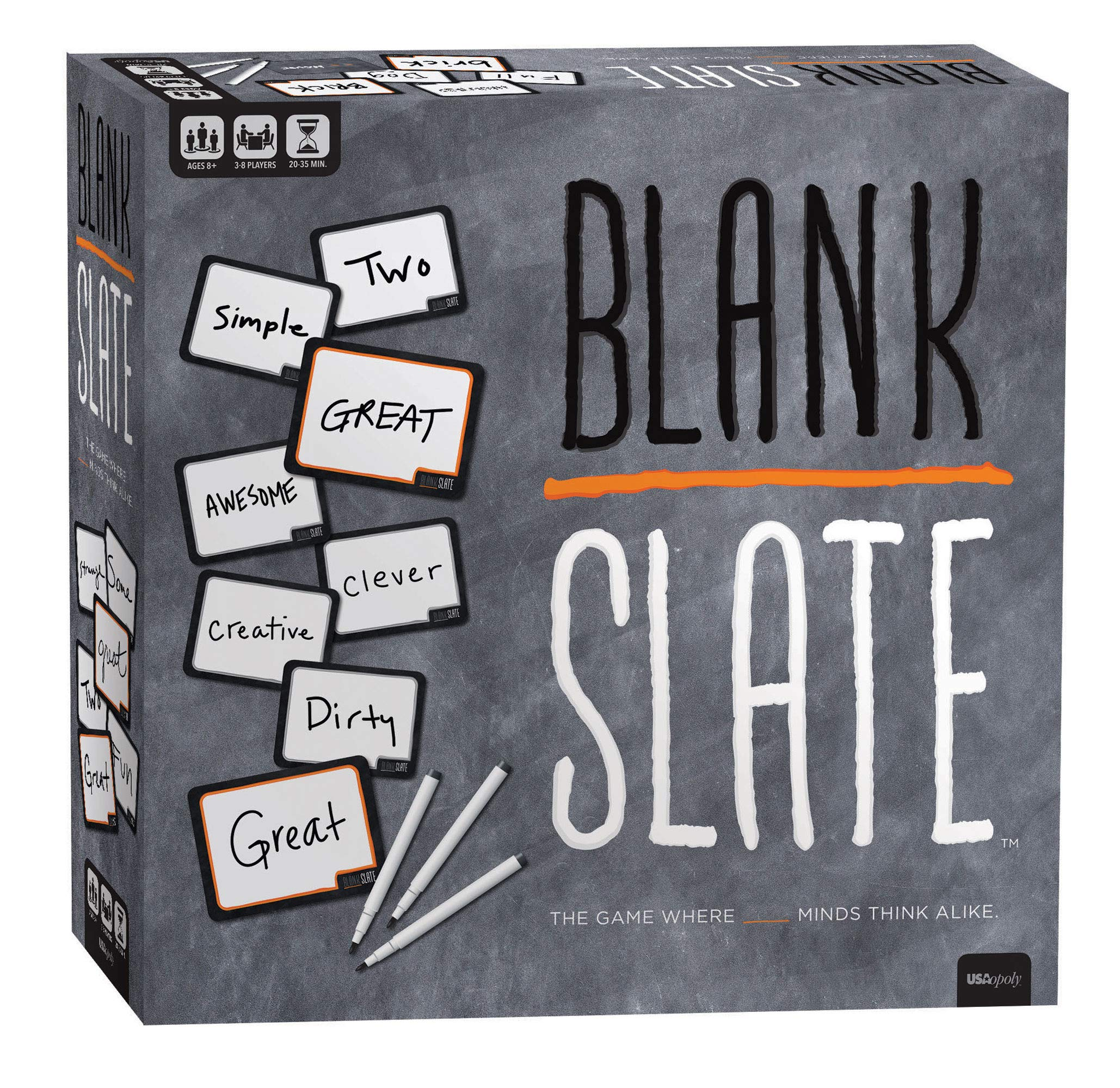 BLANK SLATE - The Game Where Great Minds Think Alike | Fun Family Friendly Word Association Party Game | The Best Choice for Game Night! | Great Family Board Game & Perfect for Family Game Night by USAOPOLY