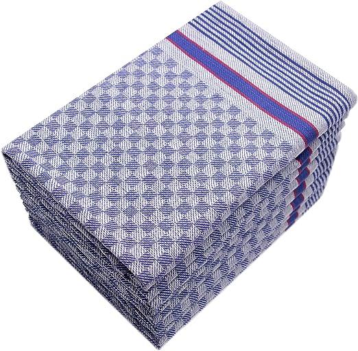 ZOLLNER 10 Trapos de Cocina Grandes, 100% algodón, 50x100 cm, a ...