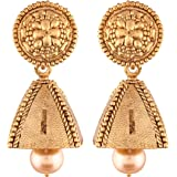 I Jewels High Gold Plated Jhumki/Jhumkas Earrings for Women (E2439FL)
