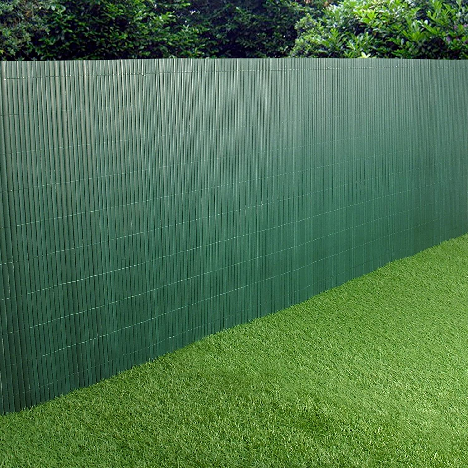 Delightful PVC Garden Fence Plastic Panel Screen Double Faced Green 3m Long 1m Tall:  Amazon.co.uk: Garden U0026 Outdoors