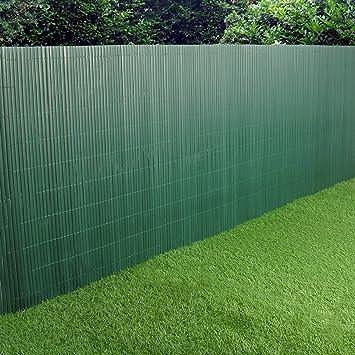 PVC Jardin Clôture écran du panneau en plastique double face 3M vert ...