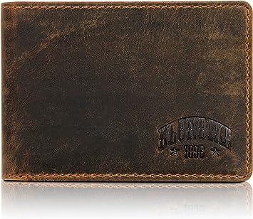Klondike 1896 Gabe Carteras Hombre con Monedero, Cartera Hombre Piel, Slim - Marrón: Amazon.es: Equipaje