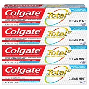 Colgate Total Toothpaste, Clean Mint - 4.8 Oz (4 Pack)