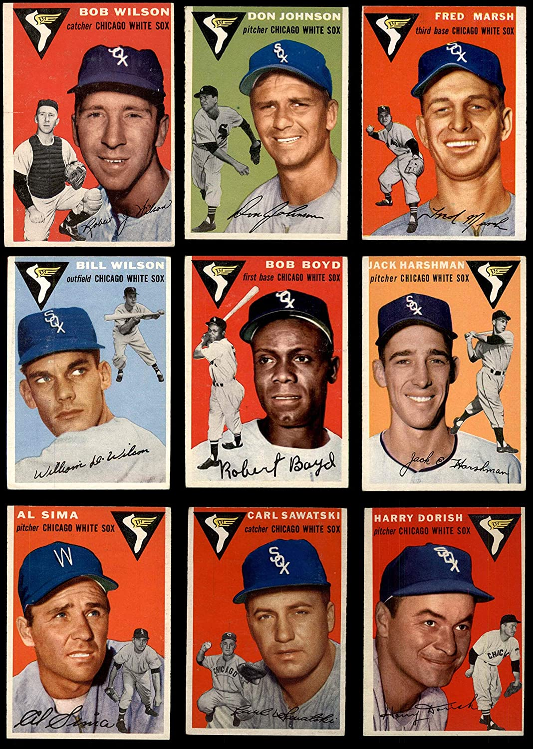 1954 Topps Chicago White Sox Near Team Set Chicago White Sox (Baseball Set) Dean's Cards 4.5 - VG/EX+ White Sox 91h9anaDBjLSL1500_