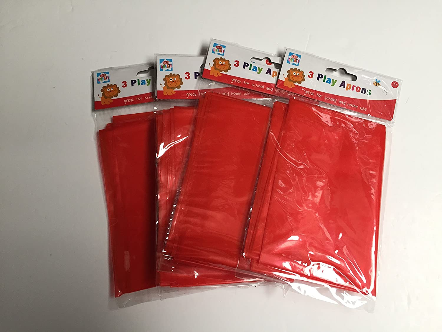 Childrens Red Waterproof PVC Aprons 5-6 Years A1445