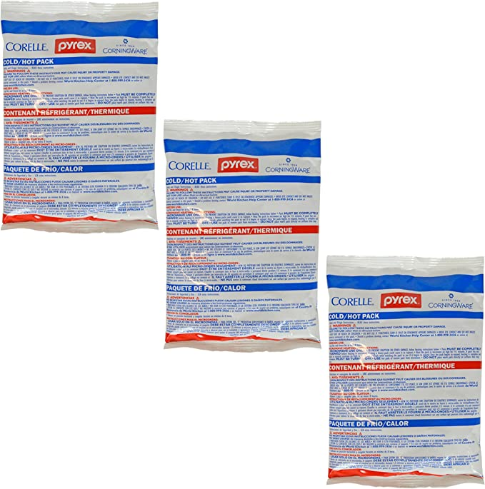 Pyrex Small Portable Hot & Cold Pack - 3 Pack: Amazon.es: Hogar