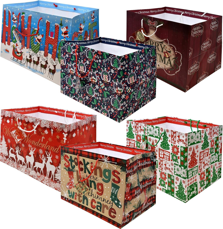 12 Jumbo Christmas Tote Bags with Handles 15