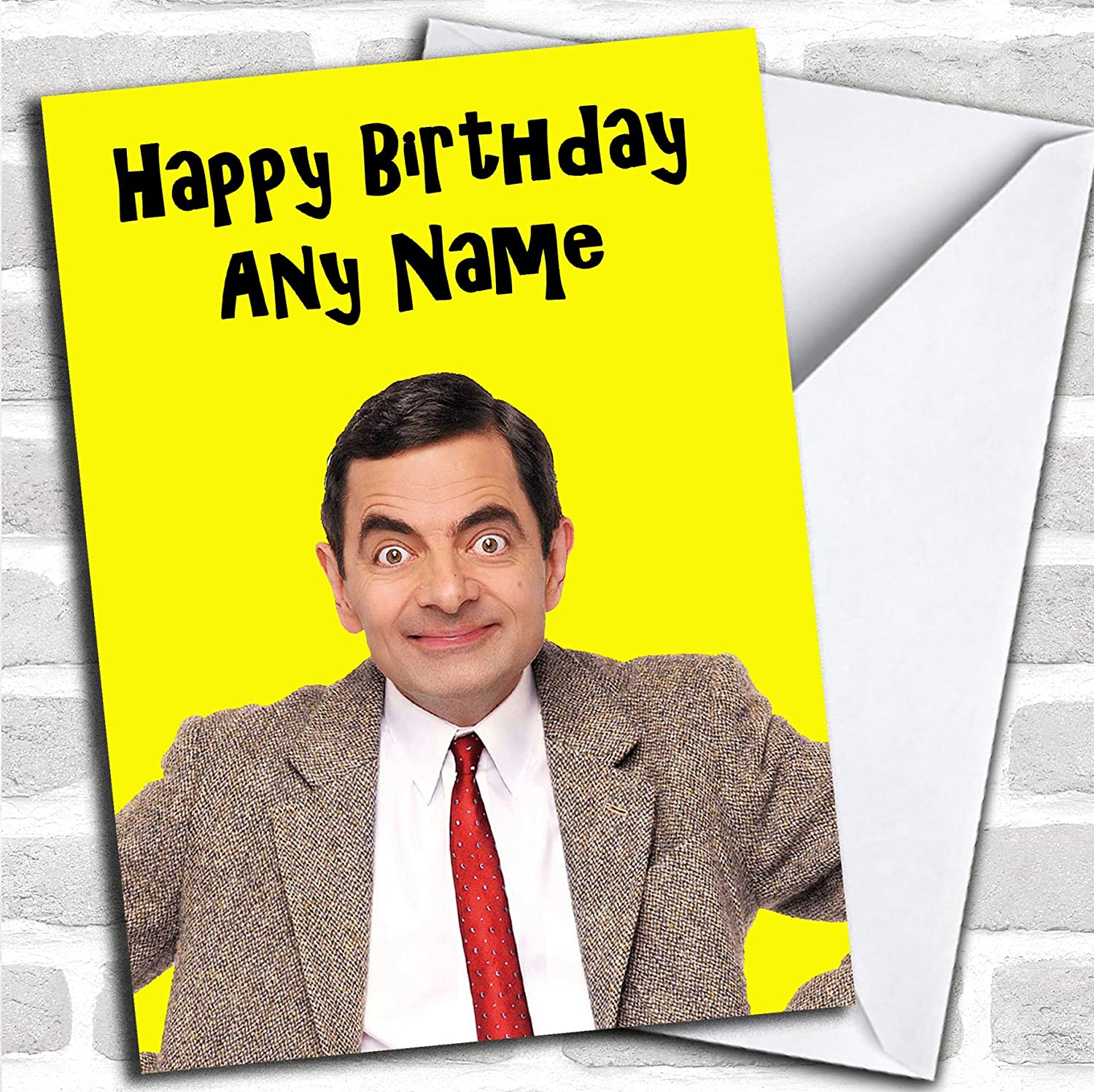 Can be personalised Mr Bean Happy Birthday Coaster