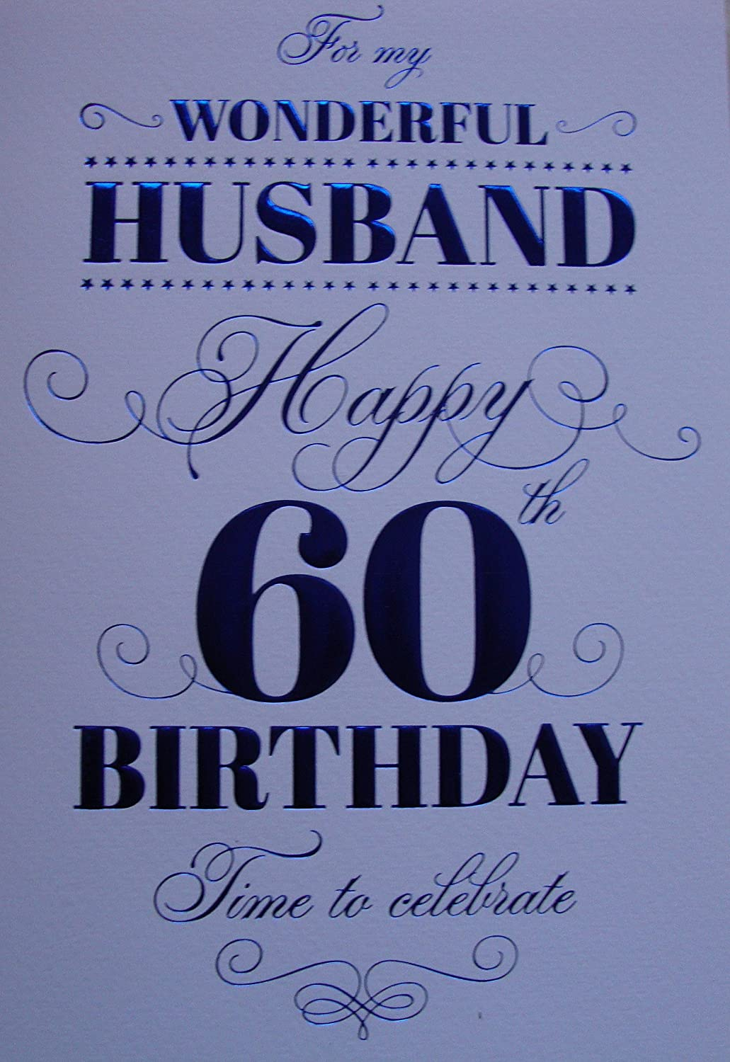 Husband 60th Birthday Birthday Card Amazoncouk Kitchen Home – Birthday Card for My Husband