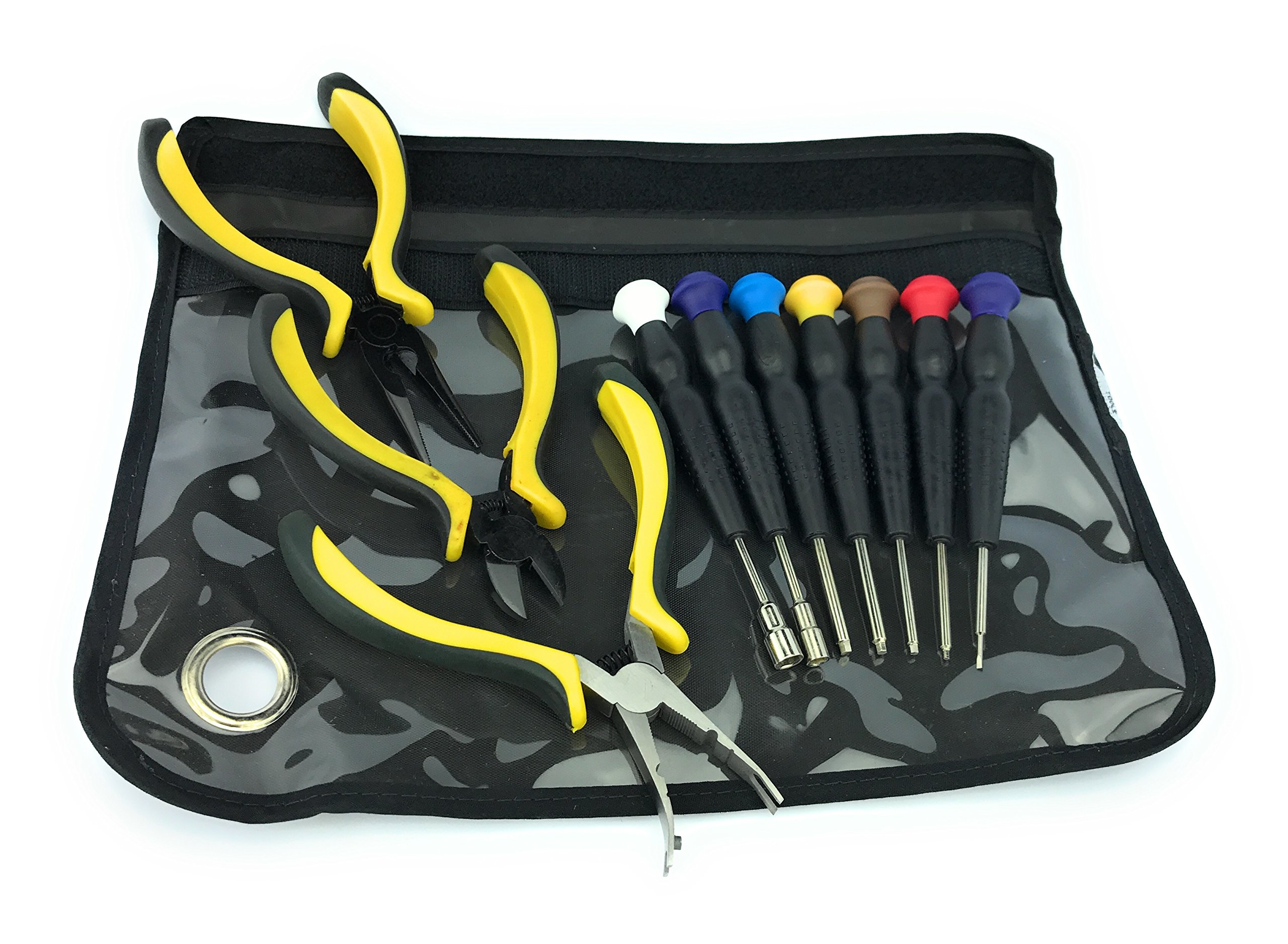 Silverhill Tools ATKRC3 Screwdrivers & Pliers Kit For Rc Heli, Car, Plane, Boat, Includes Hex Screwdrivers & Nut Setters. É