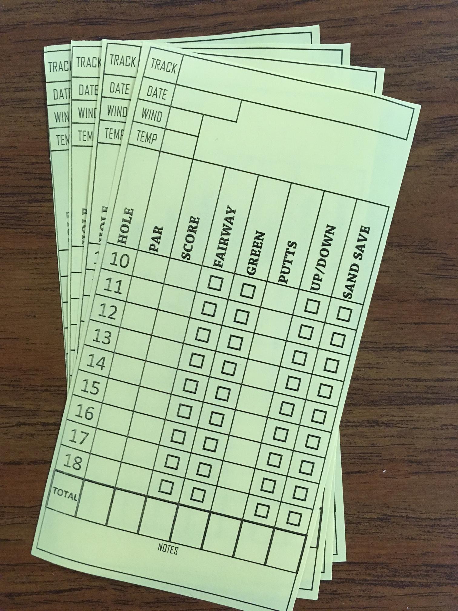 Golf Yardage Books (3 Pack) PGA Tour Template W/Stat Inserts - 2 ...