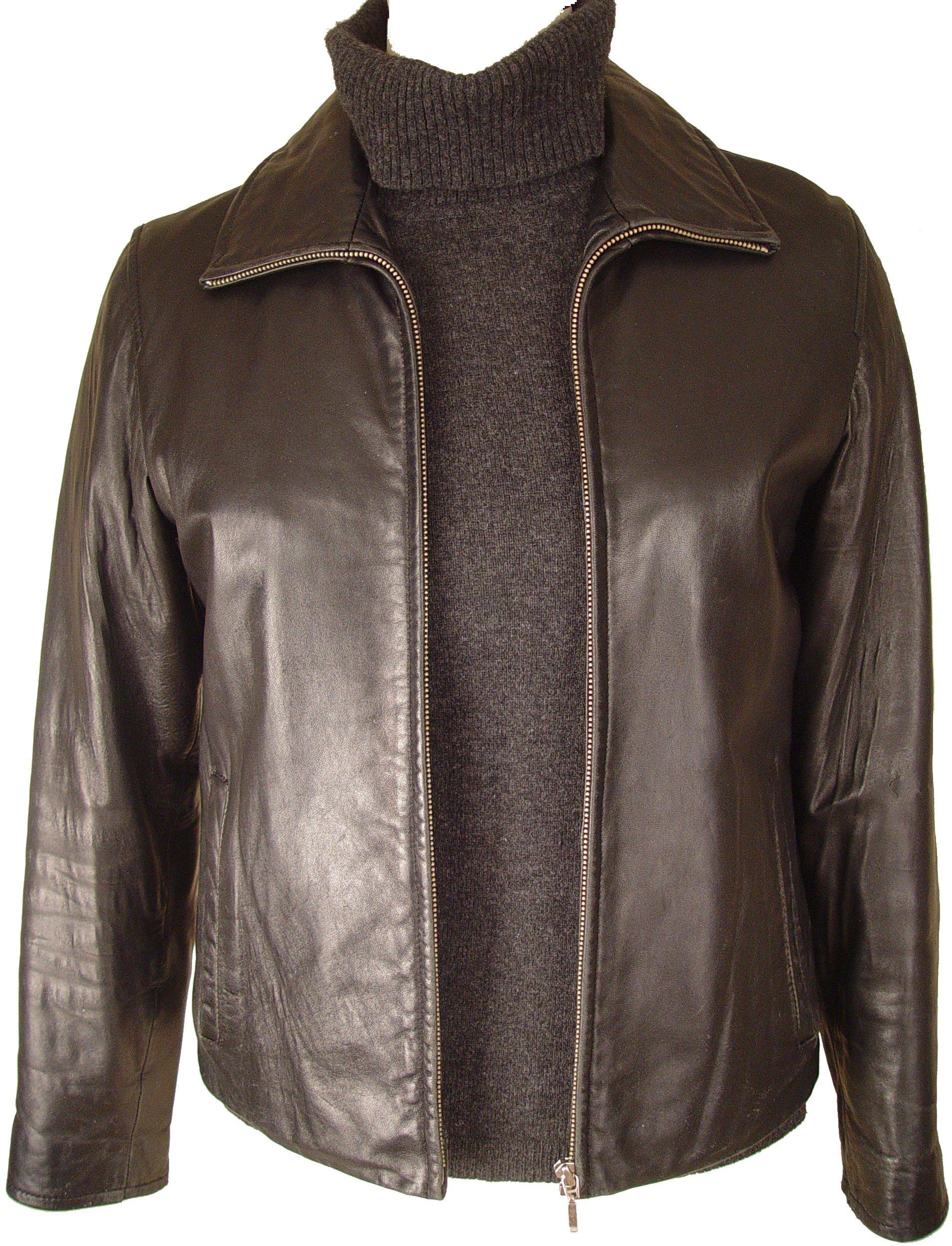 Johnny Women 4016 PETITE & ALL SIZELamb Scuba Leather Jacket