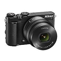 """Nikon 1 J5 + 1 Nikkor 10-30 mm VR PD-ZOOM Fotocamera Digitale ad Ottiche Intercambiabili, 20,8 Megapixel, Video 4K, LCD Touchscreen Basculante 3"""", Nero [Versione EU]"""