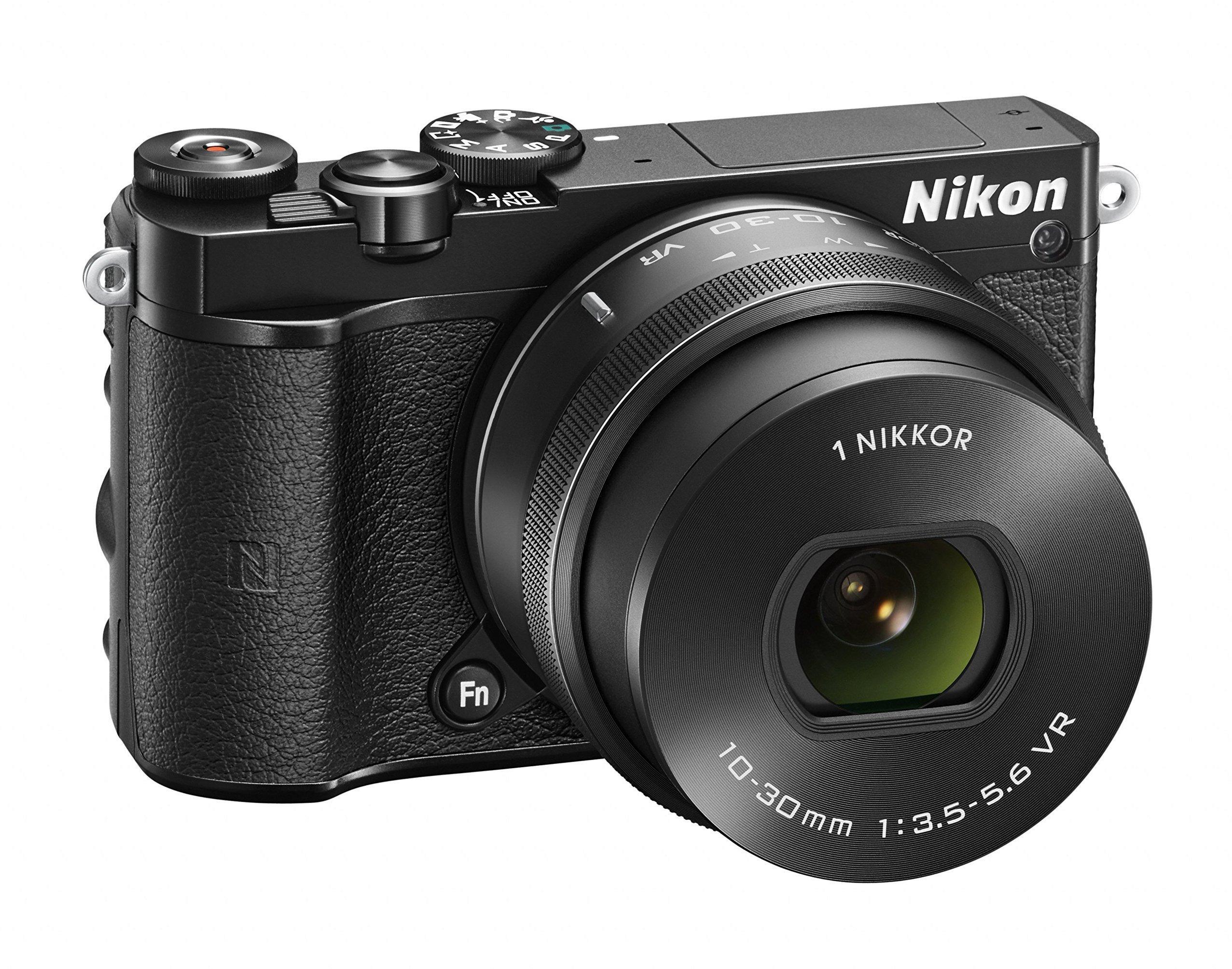 """Nikon 1 J5 + 1 Nikkor 10-30 mm VR PD-ZOOM Fotocamera Digitale ad Ottiche Intercambiabili, 20,8 Megapixel, Video 4K, LCD Touchscreen Basculante 3"""", Nero [Versione EU] product image"""