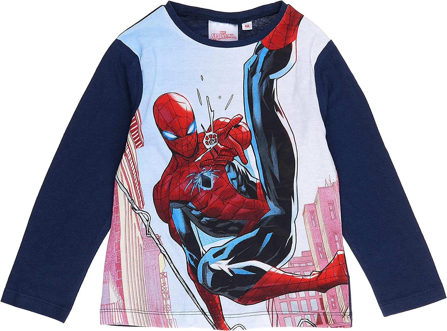 Kids Official Marvel Ultimate Spiderman Long and Short Sleeve T-Shirt Ages 3-8