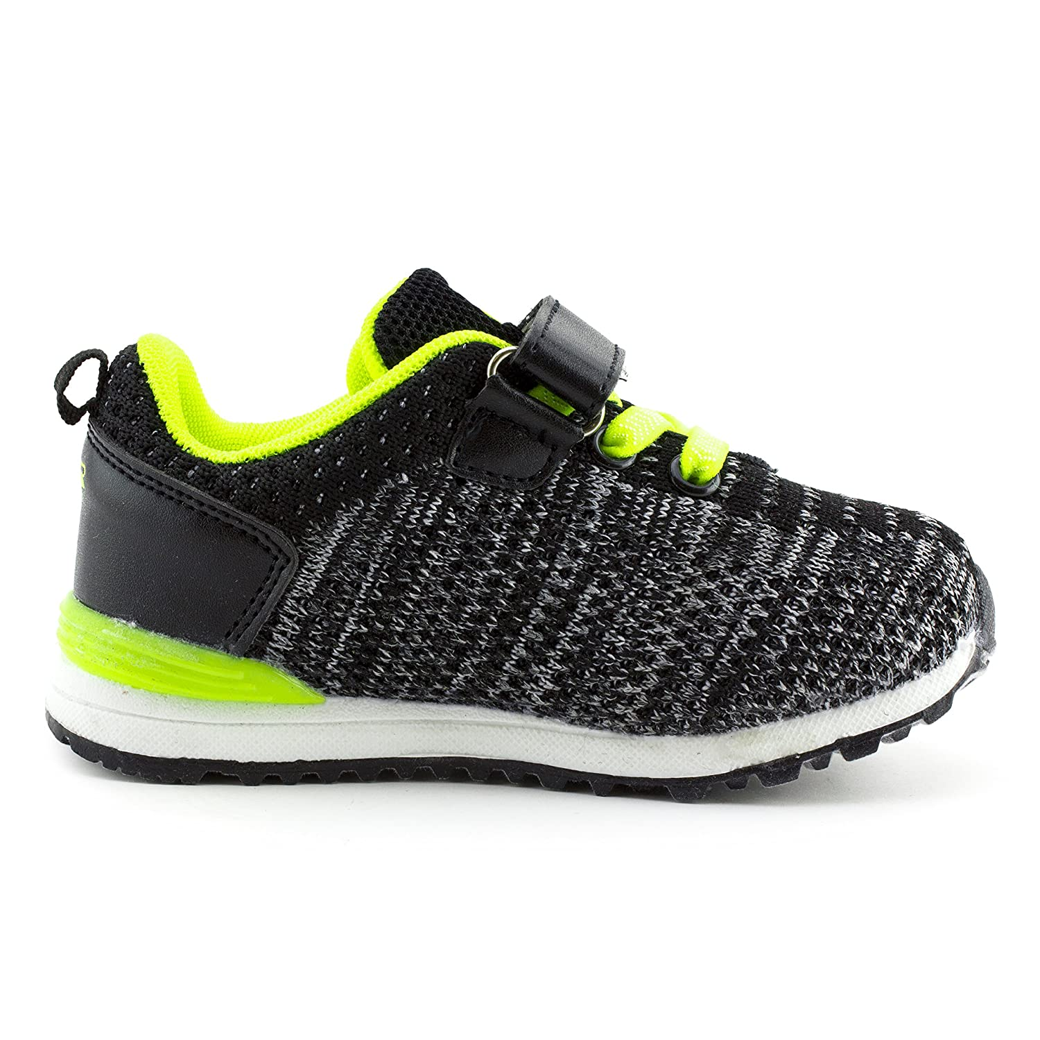 Air Balance Unisex Solid Color Hook and Loop Adjustable Closure Running Walking Shoes Toddler