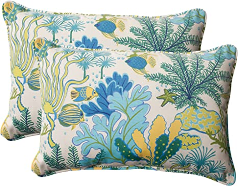 2 Pack 18.5 x 18.5 Pillow Perfect Outdoor//Indoor Splish Splash Marina Throw Pillows Multicolored