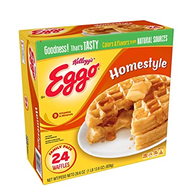 Kelloggs Eggo, Frozen Waffles, Homestyle, Easy Breakfast ...
