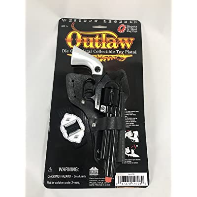 Western Legends Outlaw Die Cast Metal Cap Pistol: Toys & Games