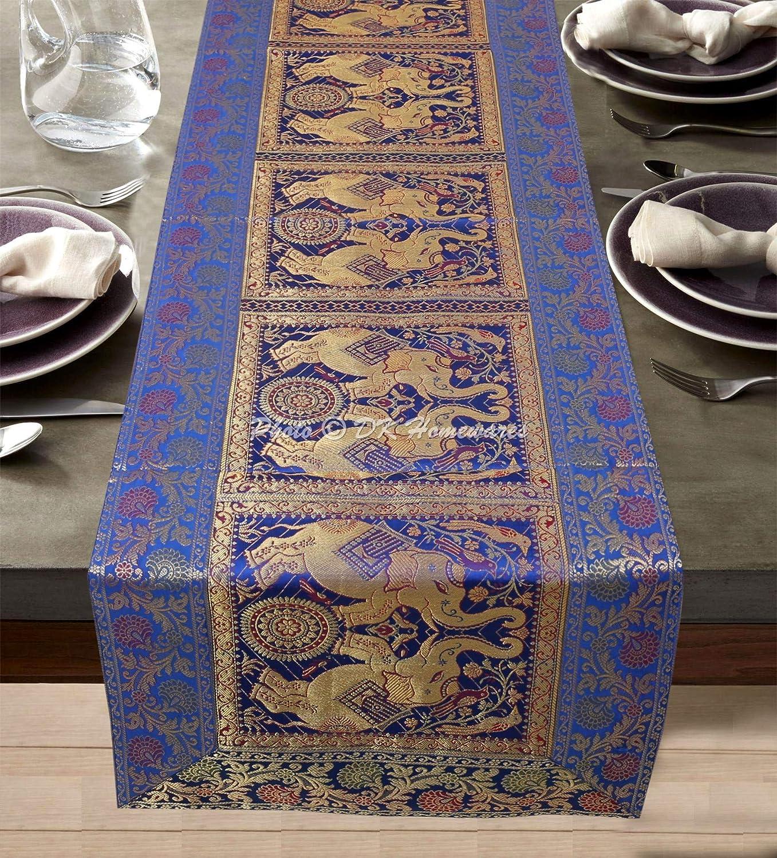 30*275cm Satin Plain Damask Table Runner Party//Wedding//Birthday-Navy Blue
