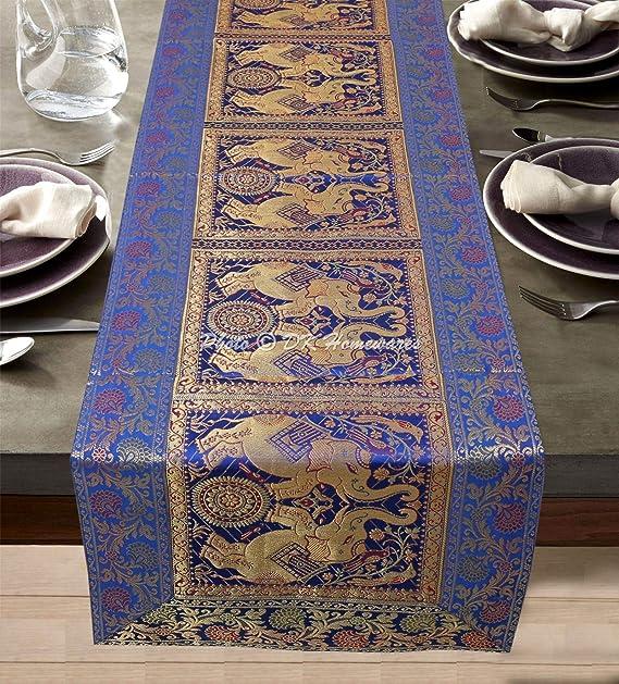 Amazon.com: DK Homewares Indian Decorative Brocade Satin ...