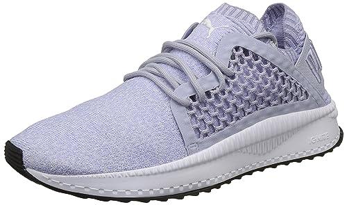 2485ada4570c17 Puma Women s Tsugi Netfit Evoknit Icelandic White Black-Baja Blue  Sneakers-4.5 UK