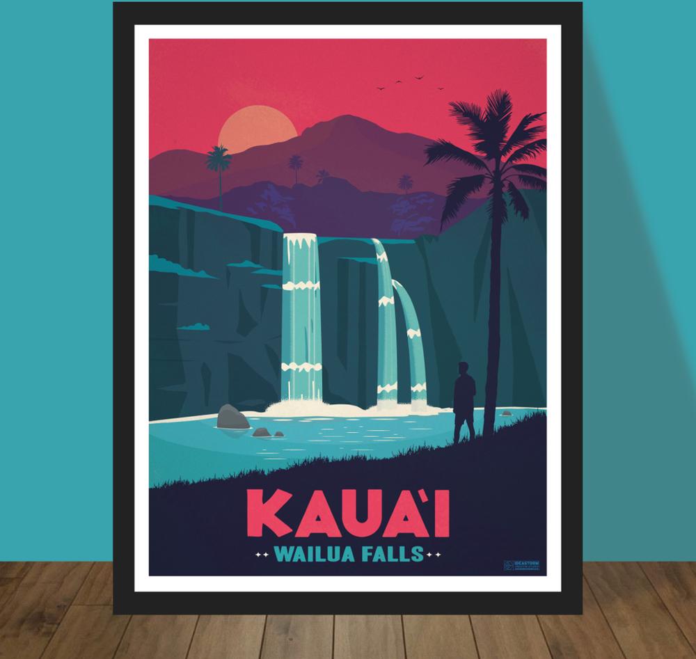 IdeaStorm Media Store — Vintage Kaua'i Poster
