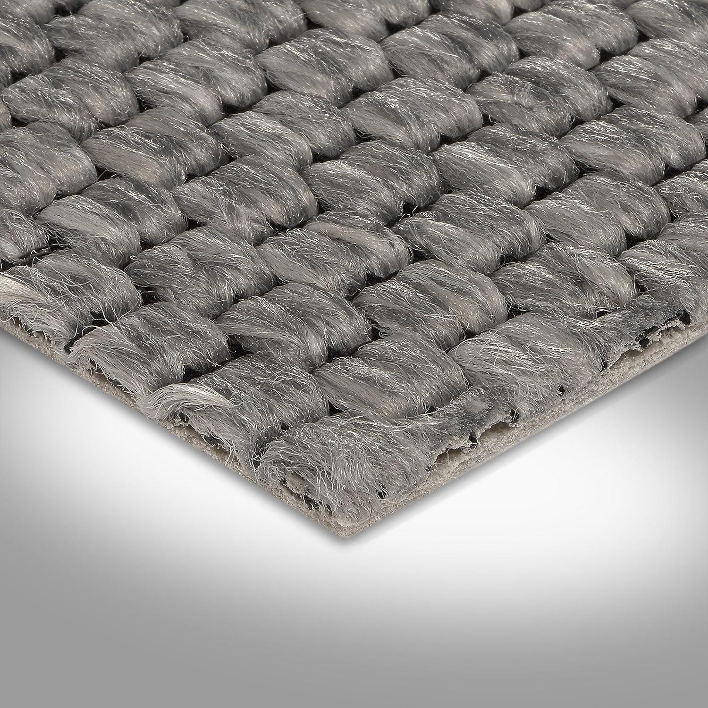 grau 400 und 500 cm Breite verschiedene Gr/ö/ßen Teppichboden Auslegware Gr/ö/ße: 1,5 x 4 m Meterware Sisal-Optik Schlinge