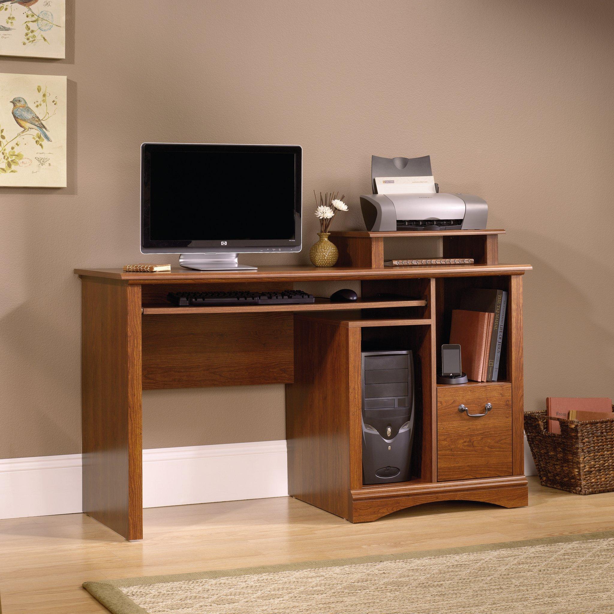 Sauder 101730 Camden County Computer Desk, L: 53.54'' x W: 20.28'' x H: 34.57'', Planked Cherry finish by Sauder