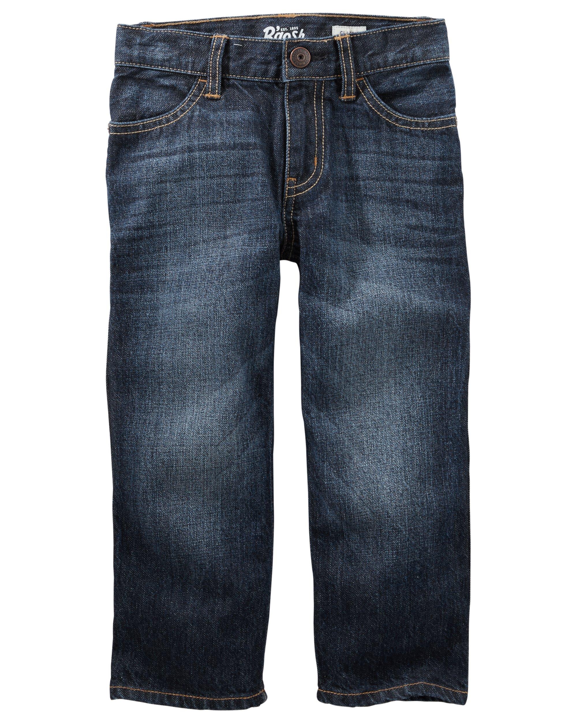 Osh Kosh Boys' Toddler Classic Jeans, True Blue, 3T