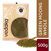Amazon Brand - Vedaka Popular Green Moong Whole/Sabut, 500g