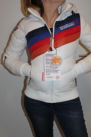 Superdry Retro Ride Hooded Bomber Chaqueta Esquí Mujer Snowboard Blanco, Tamaño S Etiqueta.: Amazon.es: Deportes y aire libre