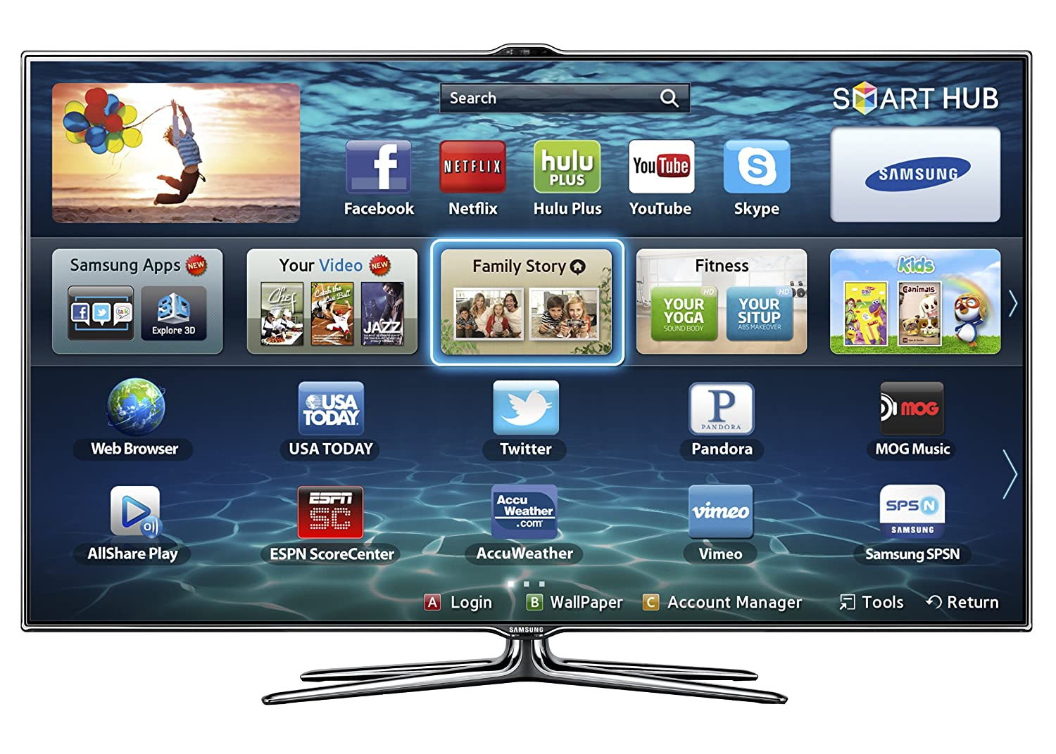 samsung 55 inch smart tv. amazon.com: samsung un55es7500 55-inch 1080p 240hz 3d slim led hdtv (black) (2012 model): electronics 55 inch smart tv