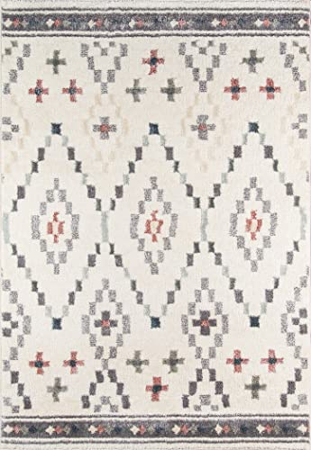 Momeni Rugs Lima Collection Contemporary Area Rug, 9 3 x 12 6 , Ivory