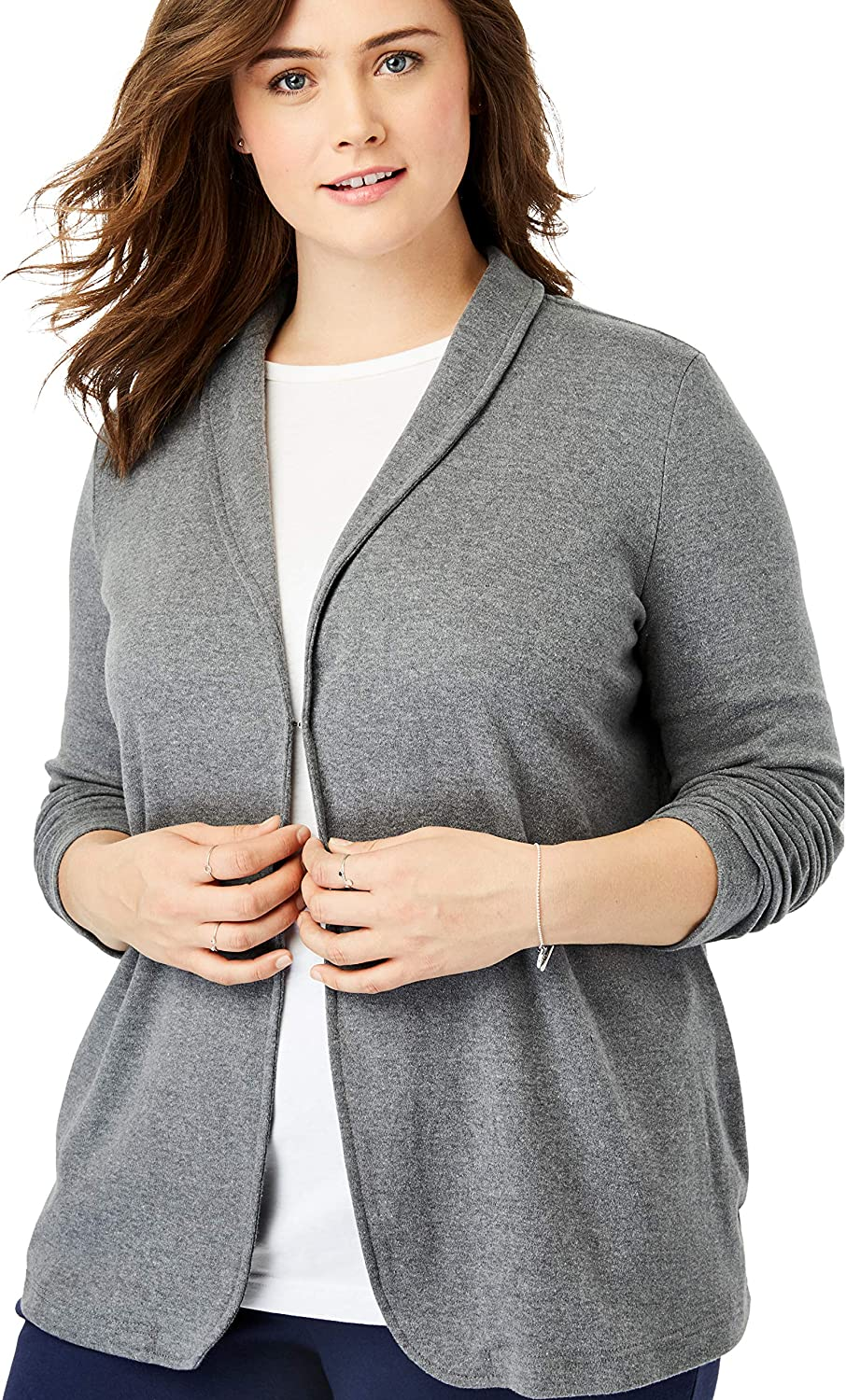 Woman Within Womens Plus Size 7-Day Knit Jacket