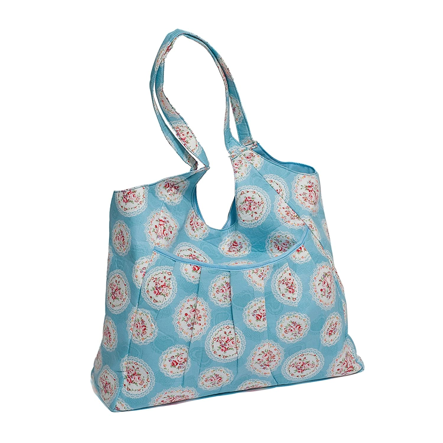 Hobby Gift Cameo Floral Design Soft Tote Bag on Blue 46 x 50 x 18cm