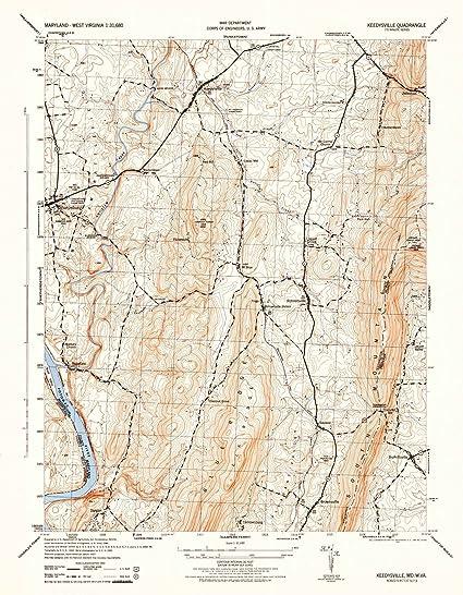 Amazon.com: Maryland Maps | 1944 Keddysville, MD USGS Historical ...