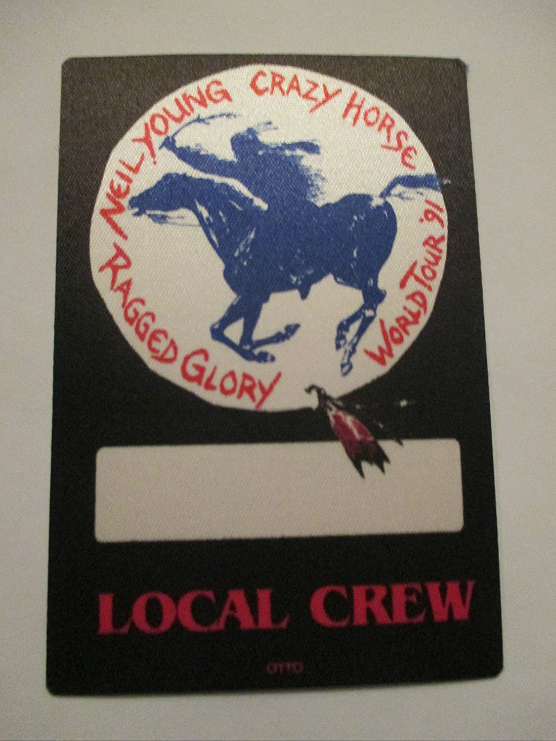 1991 Neil Young Crazy Horse Backstage Pass Ragged Glory Tour Crew