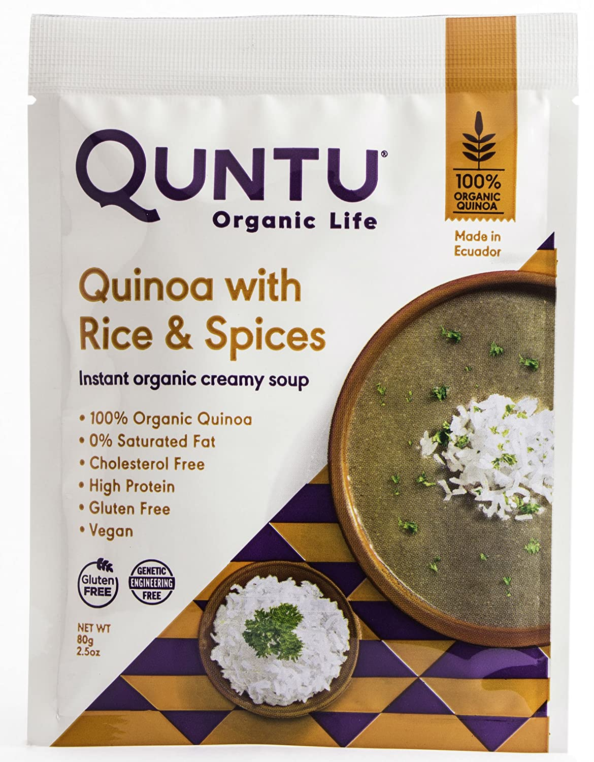 Quntu Instant Organic Quinoa Creamy Soup with Mushrooms, 2.5 oz - 12 Pack: Amazon.com: Grocery & Gourmet Food