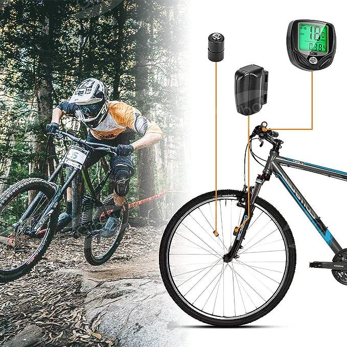 GiBot Velocímetro para Bicicleta,Ciclocomputador Bicicleta ...