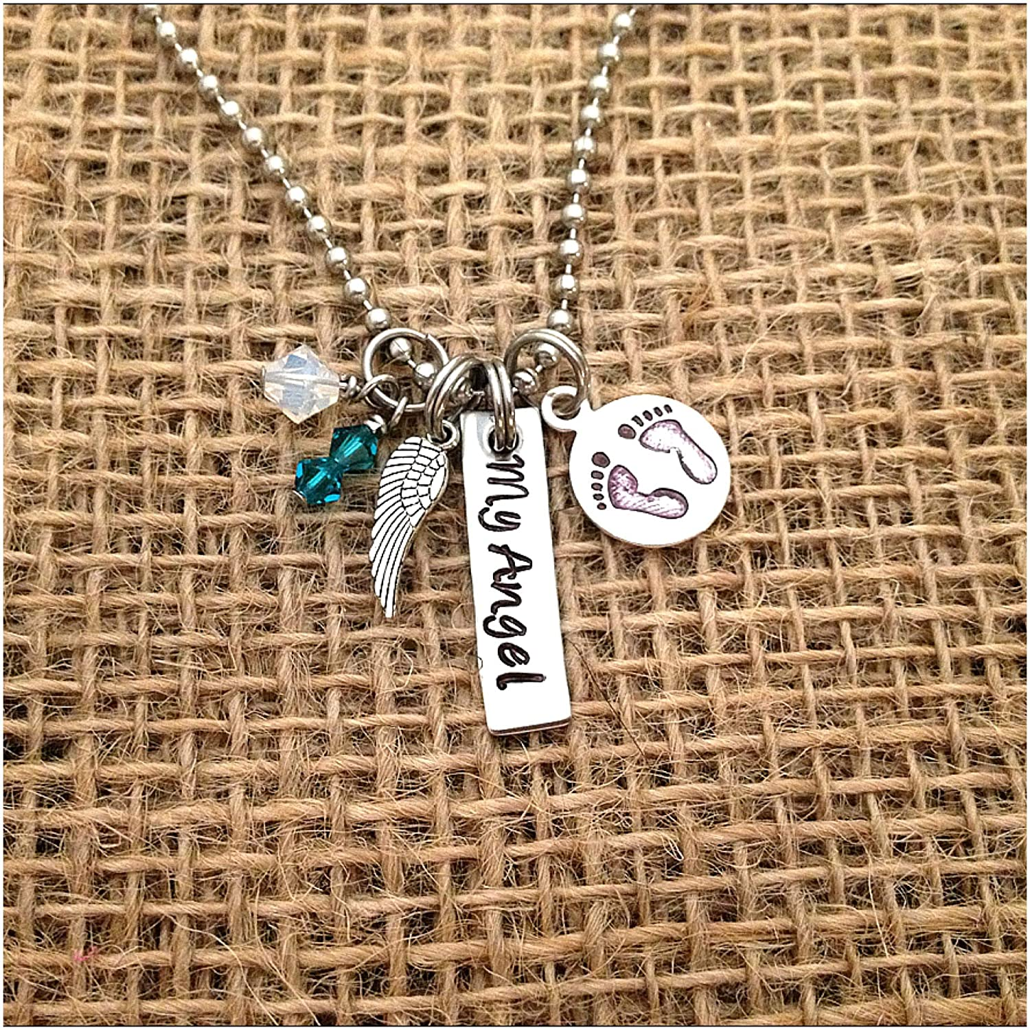 Baby Girl Baby  Boy I love you To The Moon And Back Memorial Sympathy NecklacesMothers