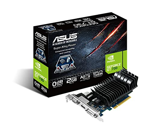 106 opinioni per Asus GeForce GT730 Scheda Video PCIe, Silent 2GB LP, Nero