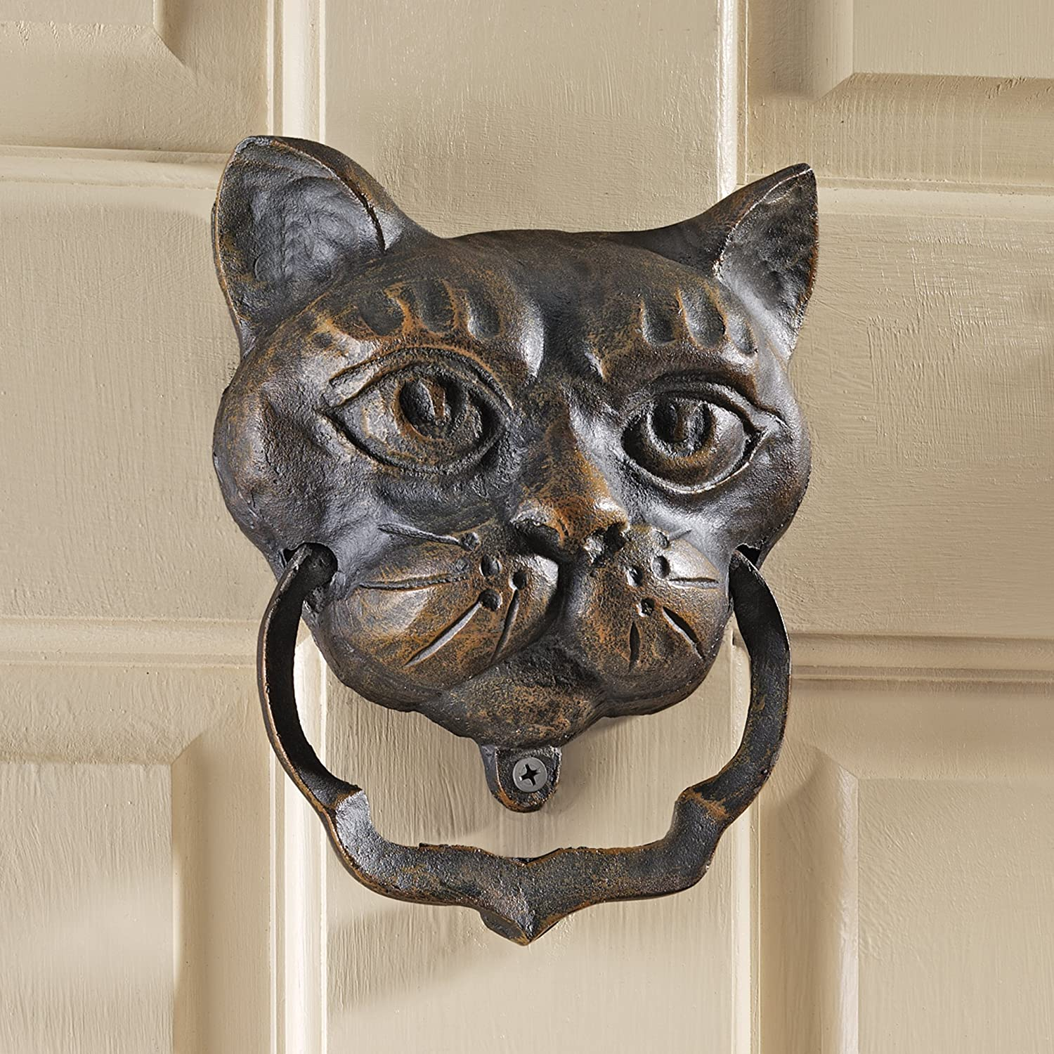 & Amazon.com: Design Toscano Black Cat Iron Door Knocker: Home \u0026 Kitchen Pezcame.Com