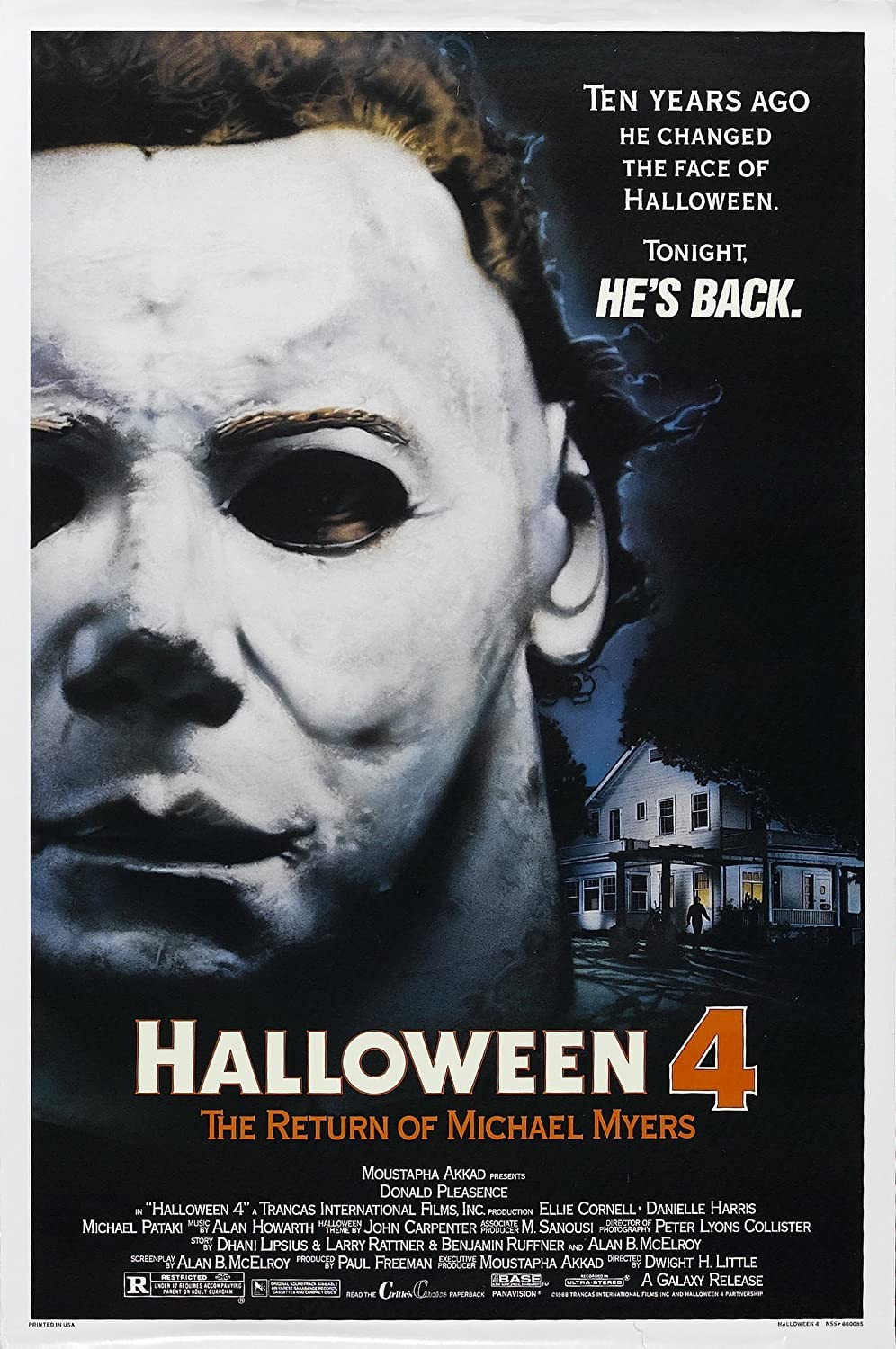 Halloween 1978 Movie Poster.Halloween 4 The Return Of Michael Myers 1978 Movie Poster 24x36