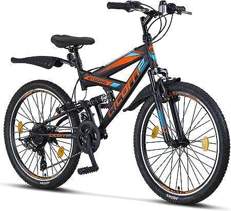 Licorne Strong Bike - Bicicleta de montaña prémium de 26 pulgadas, para niños, niñas, mujeres y hombres, cambio Shimano de 21 velocidades, suspensión ...