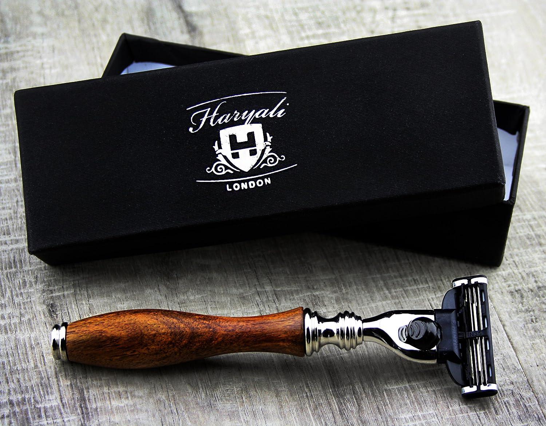 Haryali Mens Shaving Safety Razor-Wooden Handle