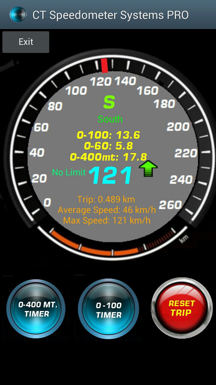 ct speedometer 0 60 mph 0 100 km 1 4 miles 400 meters acceleration timers. Black Bedroom Furniture Sets. Home Design Ideas